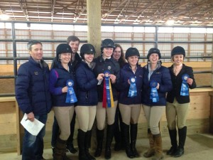 The University of Pittsburgh Equestrian Team at a competition in 2015.