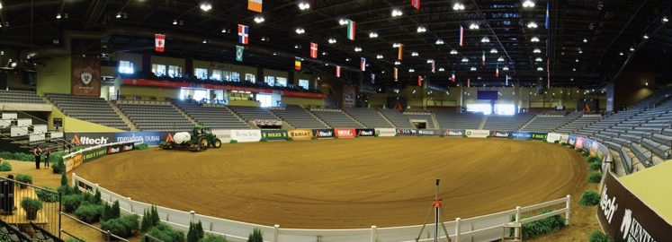 The Alltech Arena at the Kentucky Horse Park in Lexington, where the IHSA Nationals competition will be held.